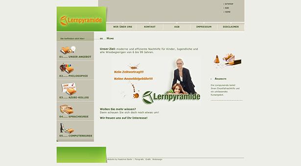 Lernpyramide Website