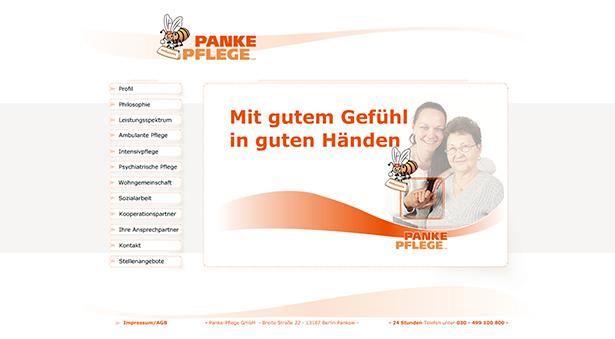 Panke Pflege Website