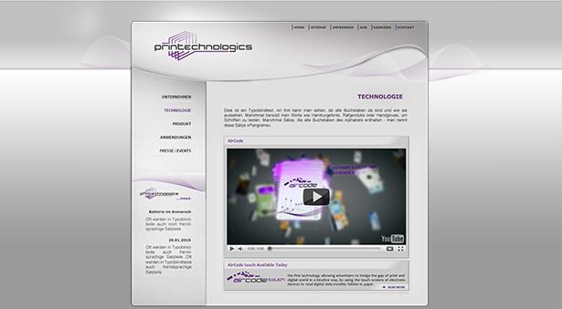 Webseite Printecnologics