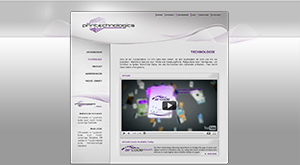 Printecnologics-Website vor dem Relaunch