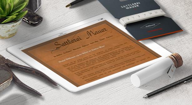 individuelles Webdesign für Sattlerei Uwe Mauer aus Treuenbrietzen