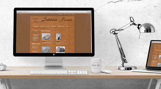 individuelles Webdesign für den Onlineshop der Sattlerei Mauer