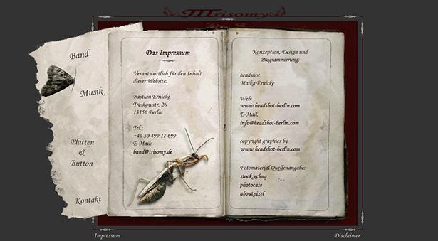 Trisomy Band-Webseite